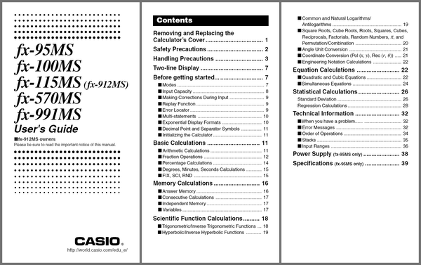 Casio Fx991ms Tips And Tricks. User's Guide Preview. Worksheet. Calculator Words Worksheet At Clickcart.co