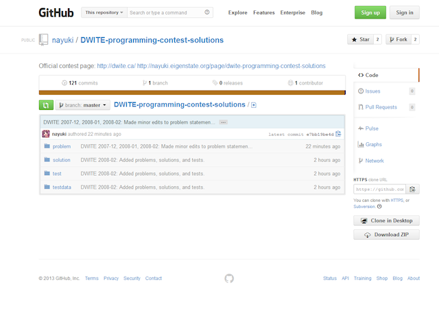 DWITE solutions repository at GitHub