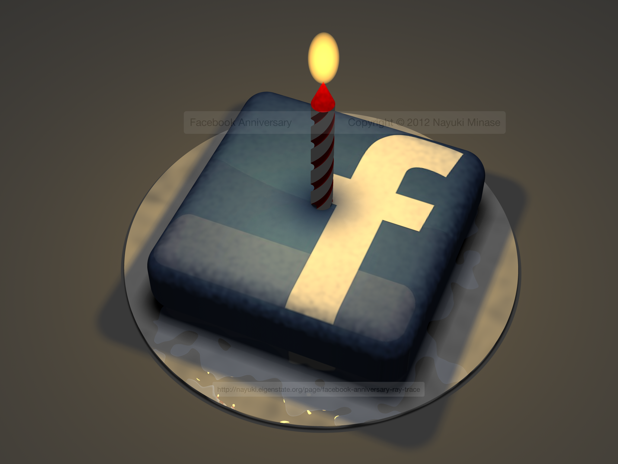 Birthday Cake Pictures To Facebook : Facebook anniversary ray trace