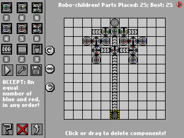 Screenshot: Robo-children!