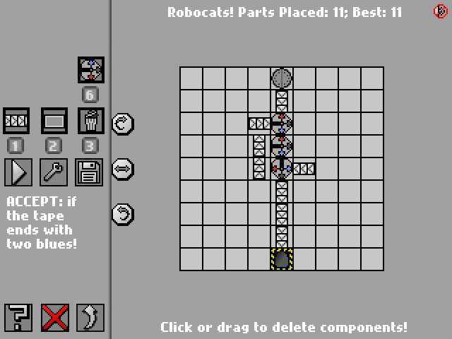 Screenshot: Robocats!