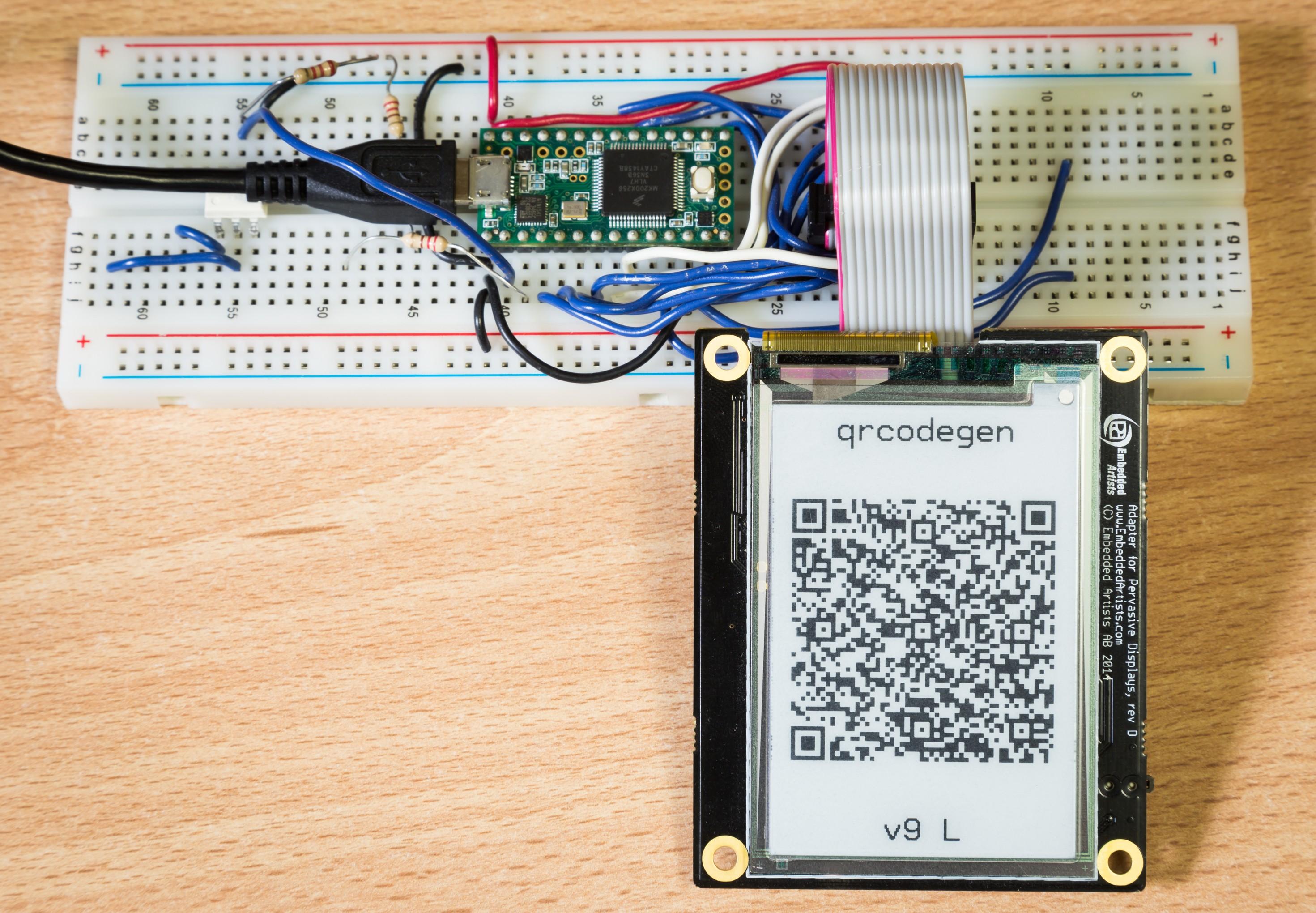 QR Code generator library