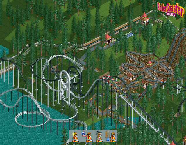 RollerCoaster Tycoon title screen
