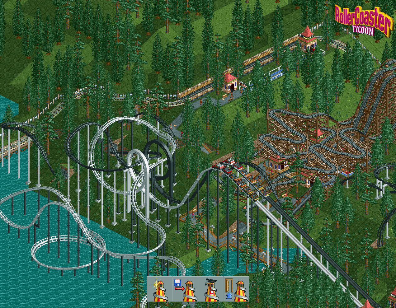 RollerCoaster Tycoon saved games